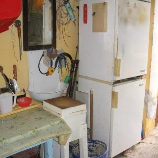 Nyári konyha a garázsban